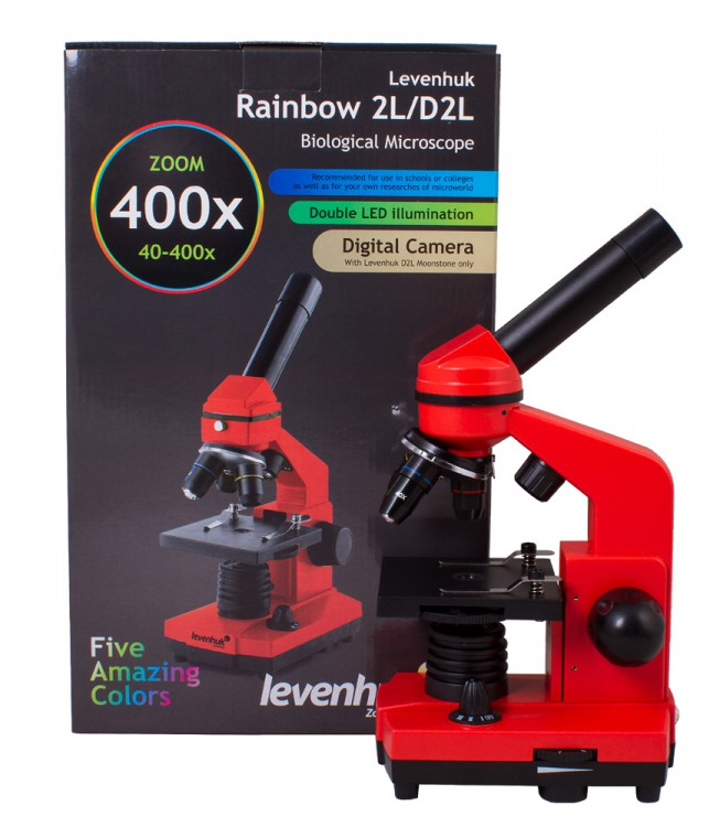 Микроскоп Levenhuk Rainbow 2L Orange\Апельсин