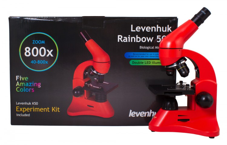 Микроскоп Levenhuk Rainbow 50L Orange\Апельсин